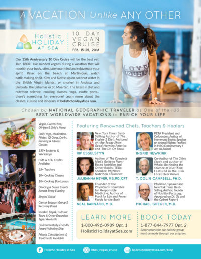 Holistic Holiday at Sea ad for Vegetarian Times