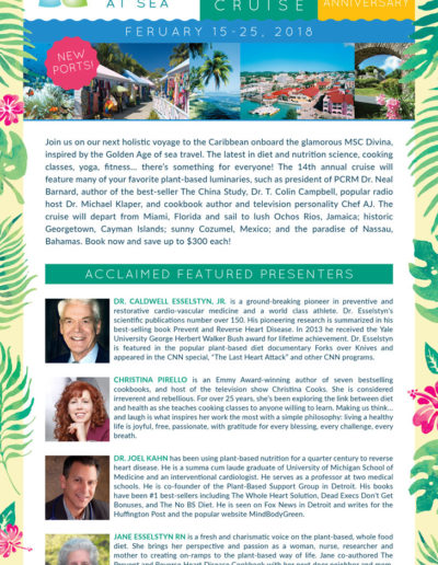 Flyer design for Holistic Holiday at Sea