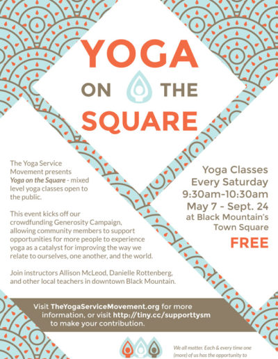 Flyer for Yoga Service Movement